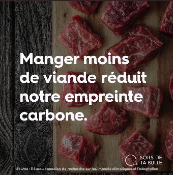 Manger moins de viande, c'est mieux.